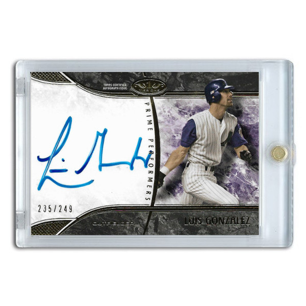 Luis Gonzalez Autographed Card 2016 Topps Tier One Ltd Ed of 249