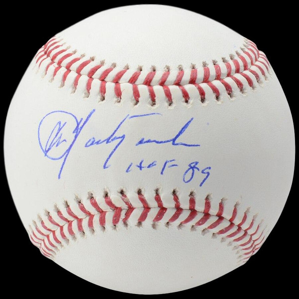 Carl Yastrzemski Autographed Rawlings OML Baseball with HOF 89 Inscription (MLB/Fanatics)