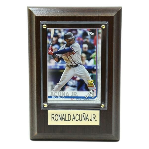 "Ronald Acuna Atlanta Braves 4"" x 6"" Baseball Card Plaque"