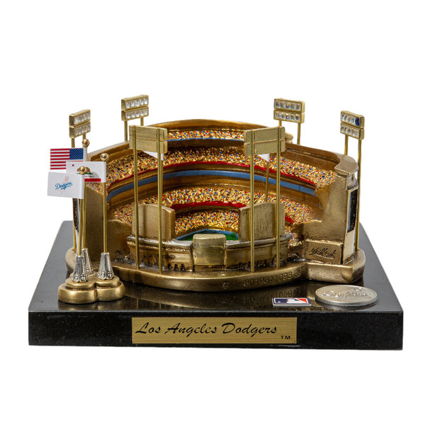 Dodger Stadium Westbrook Sports Classics Cast Bronze Replica with Marble Base and Acrylic Display Case