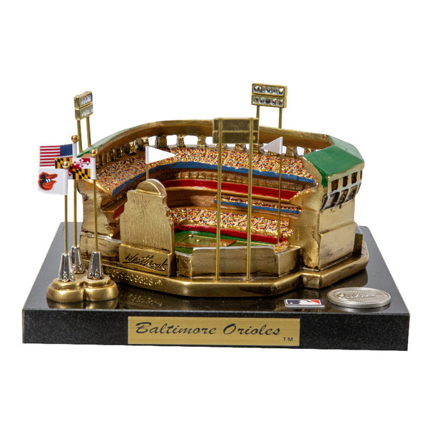 Oriole Park at Camden Yards Westbrook Sports Classics Cast Bronze Replica with Marble Base and Acrylic Display Case