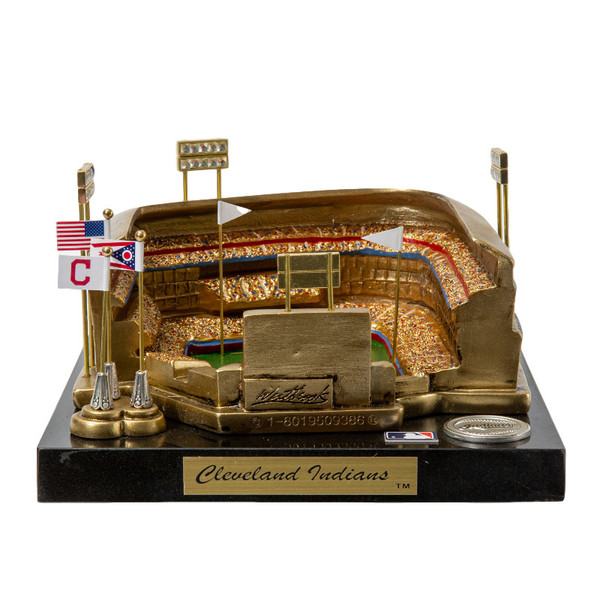 Progressive Field Westbrook Sports Classics Cast Bronze Replica with Marble Base and Acrylic Display Case