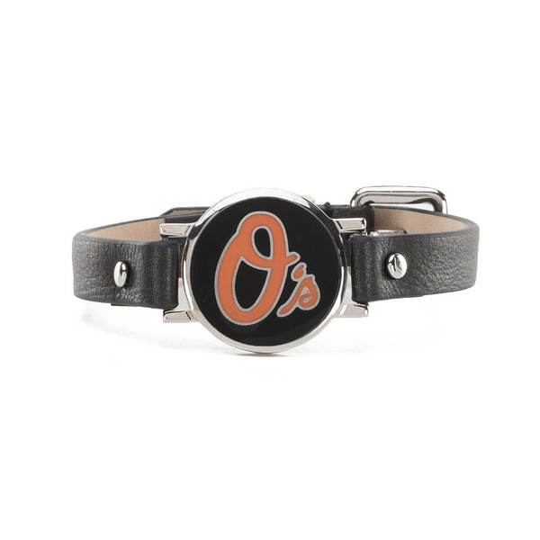"Rustic Cuff Baltimore Orioles Leather Women's ""Betsy"" Bracelet"