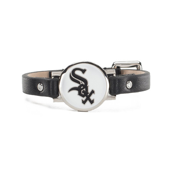 """Rustic Cuff Chicago White Sox Leather Women's """"Betsy"""" Bracelet"""