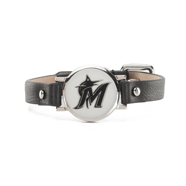 "Rustic Cuff Miami Marlins Leather Women's ""Betsy"" Bracelet"