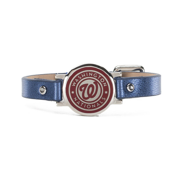 "Rustic Cuff Washington Nationals Leather Women's ""Betsy"" Bracelet"