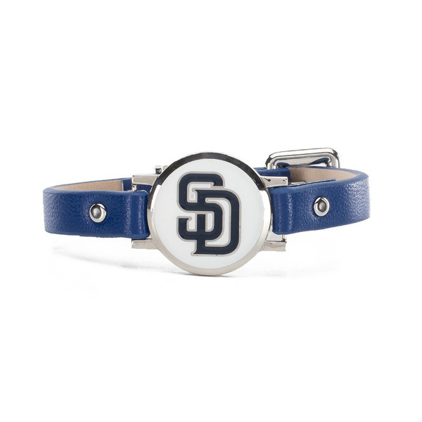 """Rustic Cuff San Diego Padres Leather Women's """"Betsy"""" Bracelet"""