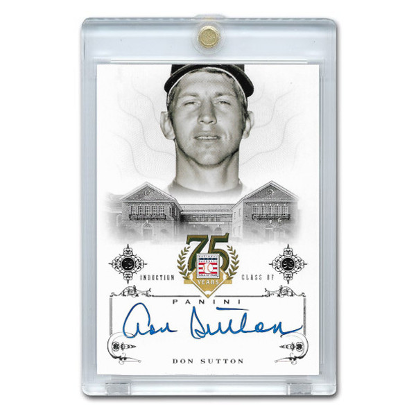 Don Sutton Autographed Card 2014 Panini Cooperstown HOF 75th Anniversary # 18