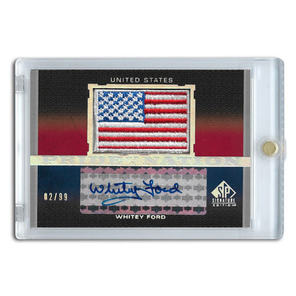 Whitey Ford Autographed Card 2012 SP Pride of a Nation Ltd Ed of 99