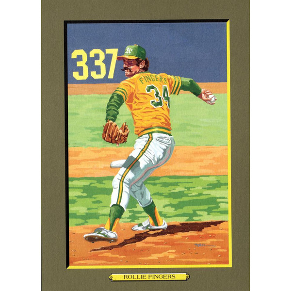 Rollie Fingers Perez-Steele Hall of Fame Great Moments Limited Edition Jumbo Postcard # 74