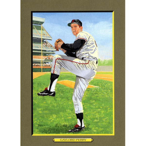 Gaylord Perry Perez-Steele Hall of Fame Great Moments Limited Edition Jumbo Postcard # 79