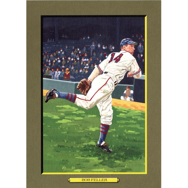 Bob Feller Perez-Steele Hall of Fame Great Moments Limited Edition Jumbo Postcard # 83