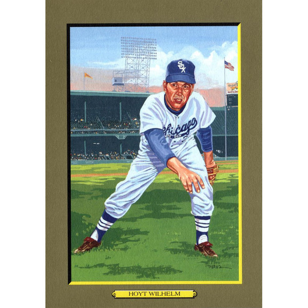 Hoyt Wilhelm Perez-Steele Hall of Fame Great Moments Limited Edition Jumbo Postcard # 93