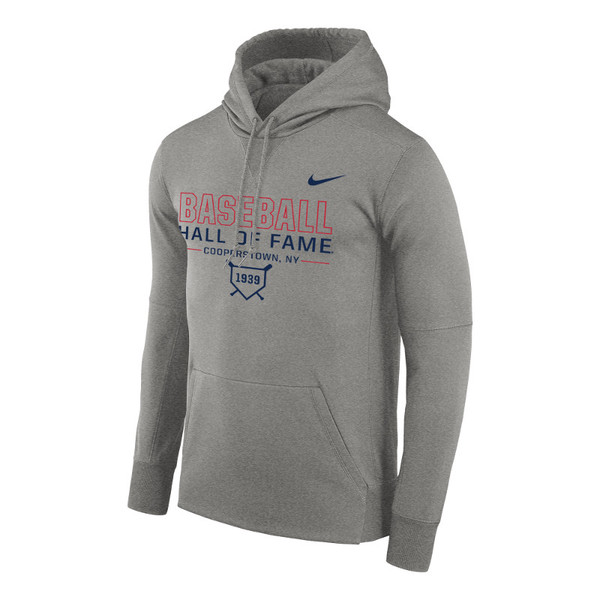Men's Nike Baseball Hall of Fame Grey Heather Therma-FIT PO Hoody