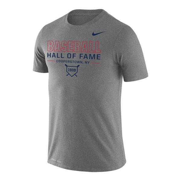 Men's Nike Baseball Hall of Fame Dri-FIT Legend 2.0 1939 Dark Gray Heather T-Shirt