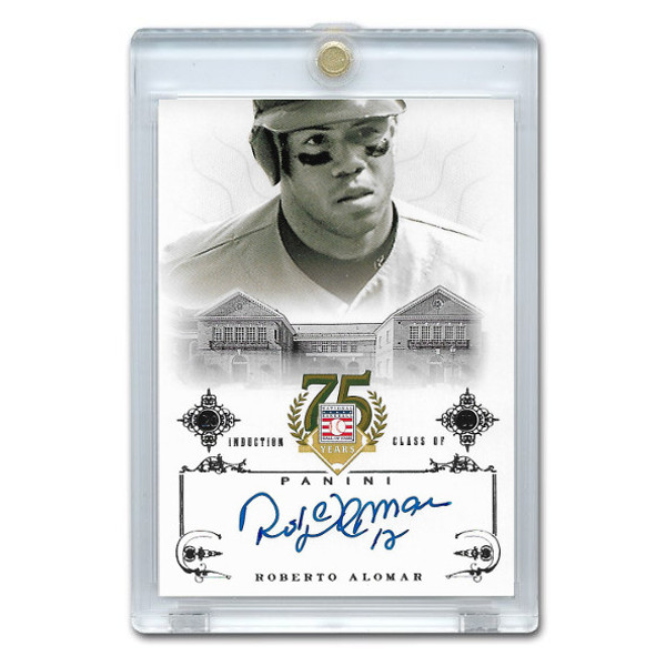 Roberto Alomar Autographed Card 2014 Panini Cooperstown HOF 75th Anniversary # 54