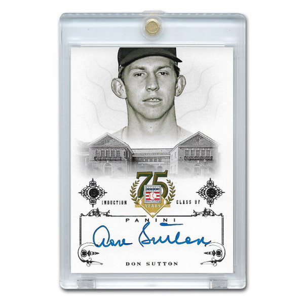 Don Sutton Autographed Card 2014 Panini Cooperstown HOF 75th Anniversary # 79