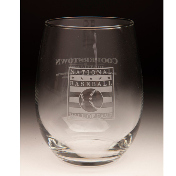 Hall of Fame Cooperstown Distillery 15 ounce Stemless Wine Glass