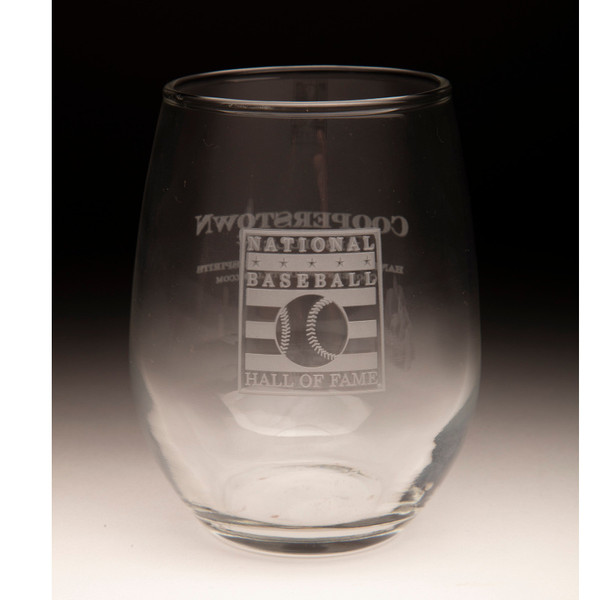 Hall of Fame Cooperstown Distillery 9 ounce Stemless Wine Glass