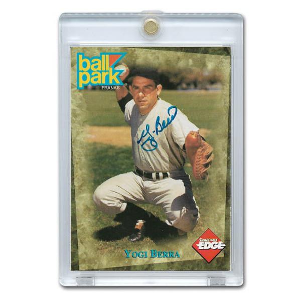 Yogi Berra Autographed Card 1995 Collector's Edge Ball Park Franks
