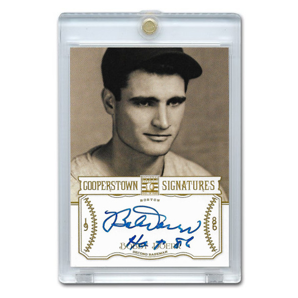 Bobby Doerr Autographed Card 2013 Panini Cooperstown Signatures Ltd Ed of 350