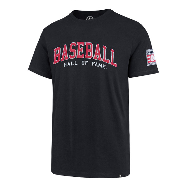 Men's '47 Brand Baseball Hall of Fame Navy Fieldhouse T-Shirt with Left Sleeve Patch
