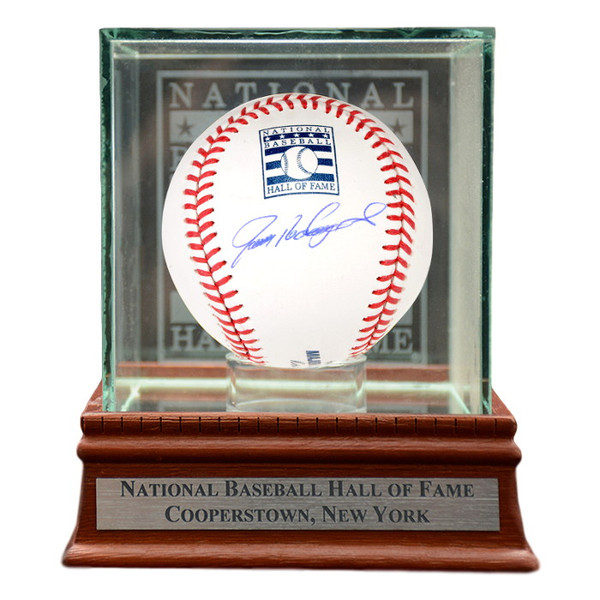 Ivan Rodriguez Autographed Hall of Fame Logo Baseball with Case (MAB)
