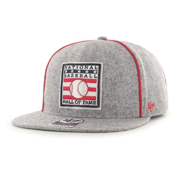 Men's '47 Brand Baseball Hall of Fame Official Logo Heritage Collection Grey Wool Blend Snapback Adjustable Cap
