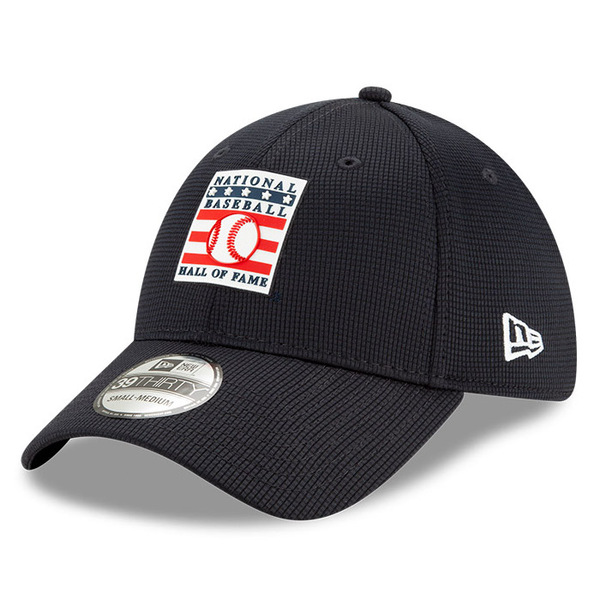 New Era Baseball Hall of Fame Silicone Logo Dark Navy 39THIRTY Flex Fit Cap