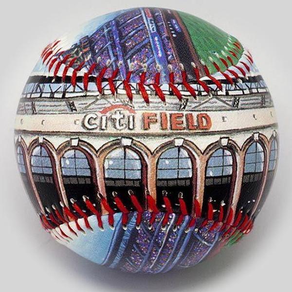 Citi Field Unforgettaballs Limited Commemorative Baseball with Lucite Gift Box