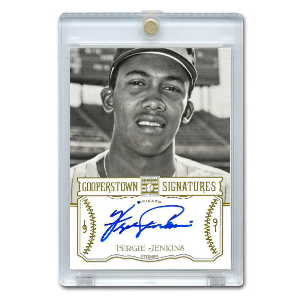 Fergie Jenkins Autographed Card 2013 Panini Cooperstown Signatures Ltd Ed 450