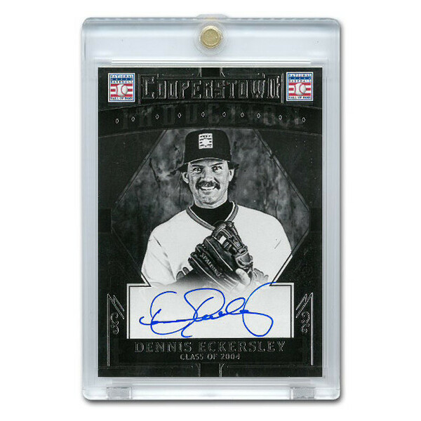 Dennis Eckersley Autographed Card 2015 Panini Cooperstown # 12