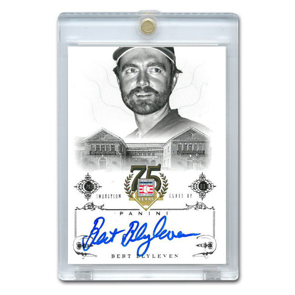 Bert Blyleven Autographed Card 2014 Panini Cooperstown HOF 75th Anniversary # 73