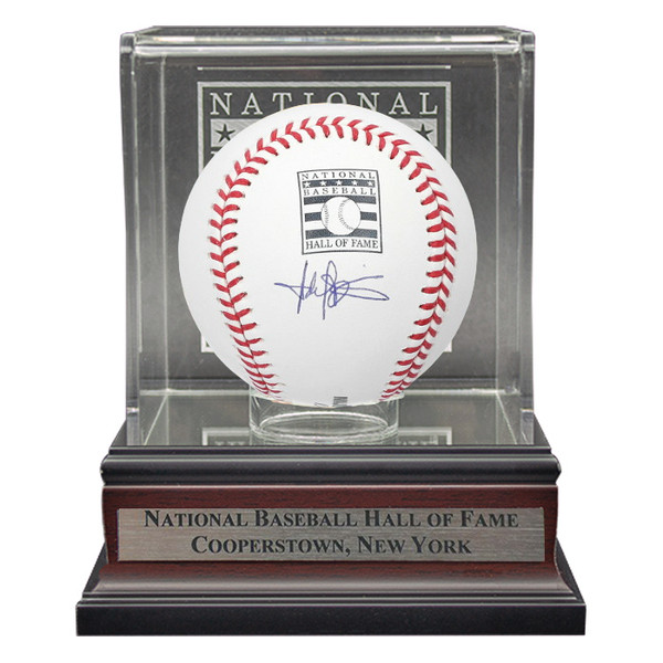 Harold Baines Autographed Hall of Fame Logo Baseball with HOF Case (MAB)