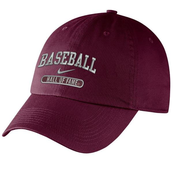 Men's Nike Baseball Hall of Fame Navy Campus Maroon Bullet Adjustable Cap