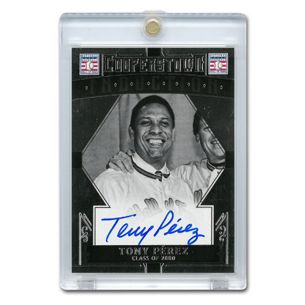 Tony Perez Autographed Card 2015 Panini Cooperstown # 48
