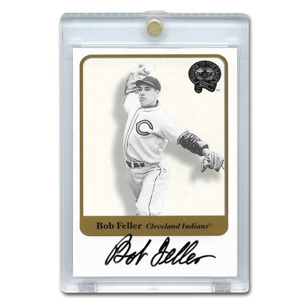 Bob Feller Autographed Card 2001 Fleer Greats of the Game