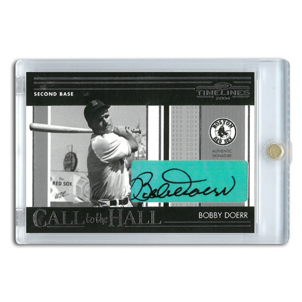 Bobby Doerr Autographed Card 2004 Donruss Timelines Call to the Hall