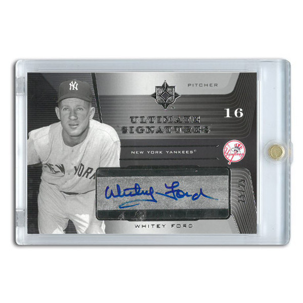 Whitey Ford Autographed Card 2004 Upper Deck Ultimate Signatures Ltd Ed of 25