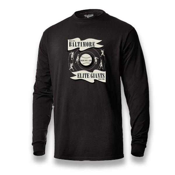 Men's Teambrown Baltimore Elite Giants Long Sleeve Crew T-Shirt