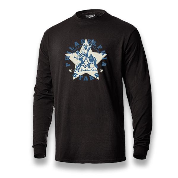 Men's Teambrown Philadelphia Stars Long Sleeve Crew T-Shirt
