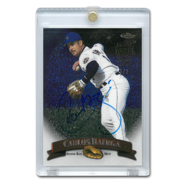 Carlos Baerga Autographed Card 2016 Topps Archives Finest Buyback Lt Ed of 3
