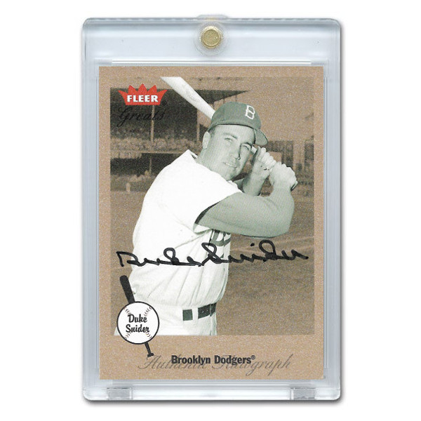 Duke Snider Autographed Card 2002 Fleer Greats of the Game