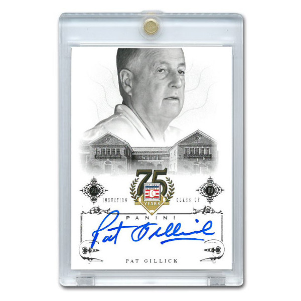 Pat Gillick Autographed Card 2014 Panini Cooperstown HOF 75th Anniversary # 47