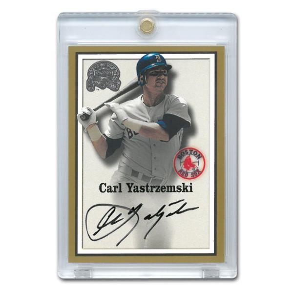 Carl Yastrzemski Autographed Card 2000 Fleer Greats of the Game