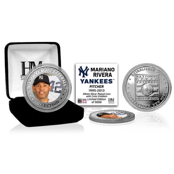 Highland Mint Mariano Rivera New York Yankees Hall of Fame Silver Photo Coin