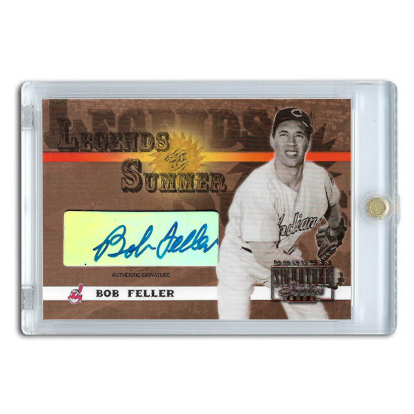 Bob Feller Autographed Card 2003 Donruss Signature Legends of Summer