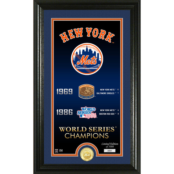Highland Mint New York Mets Legacy Supreme Bronze Coin 12 x 20 Photo Mint