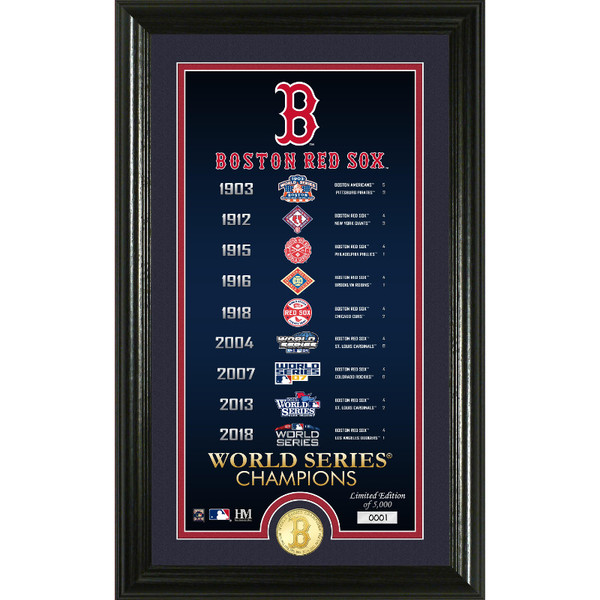 Highland Mint Boston Red Sox Legacy Supreme Bronze Coin 12 x 20 Photo Mint