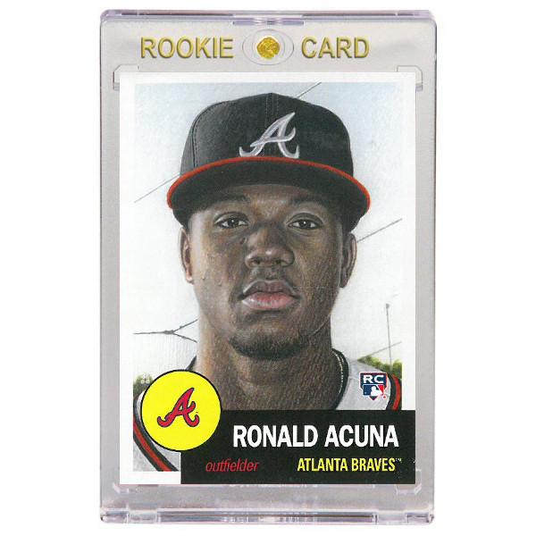 Ronald Acuna Atlanta Braves 2018 Topps Living Set # 19 Rookie Card